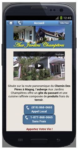 Création de site mobile