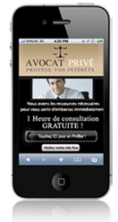 Site mobile pour avocat