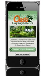 Site mobile pour paysagiste
