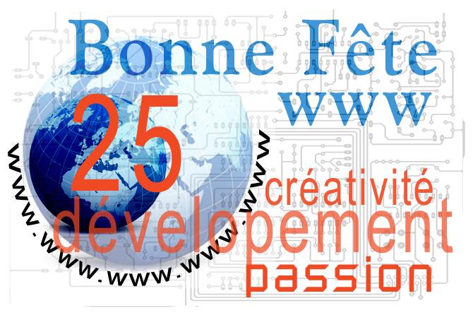 Le WEB a 25 ans le 12 Mars 2014